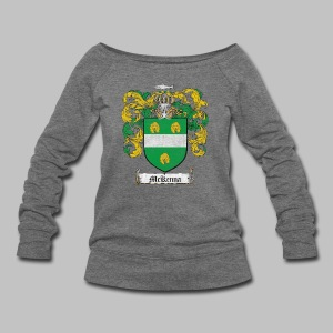 Mckenna Family Shield - Women's Wideneck Sweatshirt