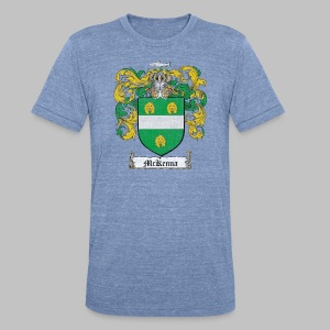 Mckenna Family Shield - Unisex Tri-Blend T-Shirt by American Apparel