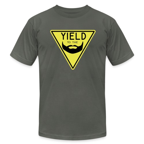 Yield to the Beard - Men's Fine Jersey T-Shirt