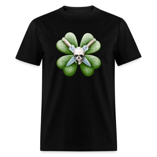 Skull, Knives, & Clover - Men's T-Shirt