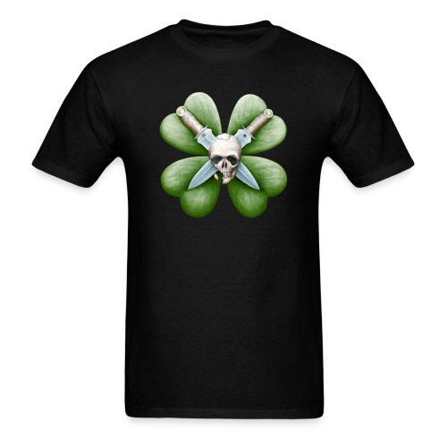 Skull, Knives, & Clover - Men's T-Shirt