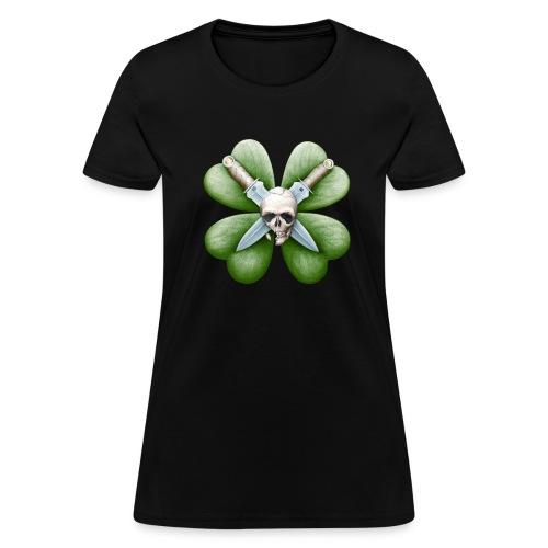 Skull, Knives, & Clover (Women's) - Women's T-Shirt