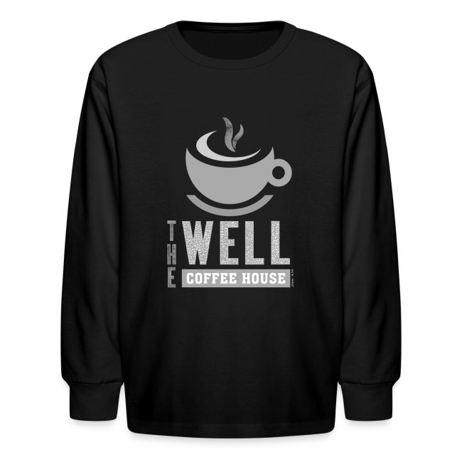 Kids' Long Sleeve T-Shirt, Grey Logo