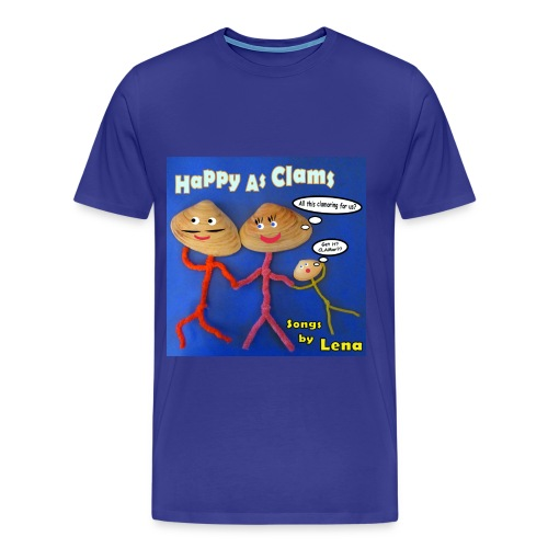Happy as a Clam Adult T-Shirt Male - Men's Premium T-Shirt