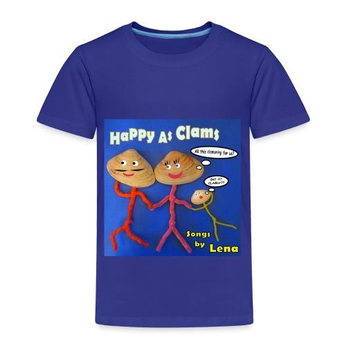 Happy as a Clam Toddler T-Shirt - Toddler Premium T-Shirt