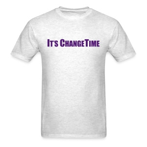 Men's IT'S CHANGETIME Standard T-Shirt Grey - Men's T-Shirt