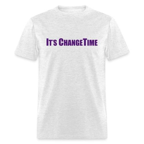 Men's IT'S CHANGETIME Standard T-Shirt Grey - Men's T-Shirt