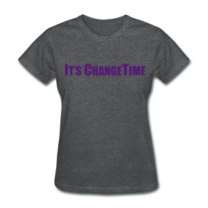 Women's IT'S CHANGETIME Standard Grey Shirt - Women's T-Shirt