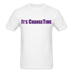 Men's IT'S CHANGETIME Standard White Shirt - Men's T-Shirt