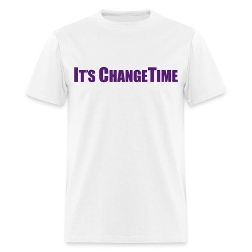 Men's IT'S CHANGETIME Standard White Shirt - Men's T-Shirt
