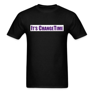 Men's IT'S CHANGETIME Standard Black Shirt - Men's T-Shirt