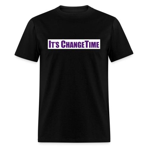 Men's IT'S CHANGETIME Standard Black Shirt - Men's T-Shirt