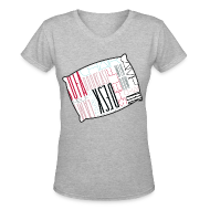 T-Shirts ~ Women's V-Neck T-Shirt ~ Sleep Talking Word Room