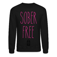 Long Sleeve Shirts ~ Men's Crewneck Sweatshirt ~ Sober Free