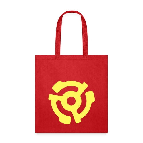 Vintage 45 RPM Adapter Record Tote - Tote Bag