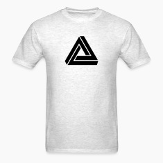 Triangle mathematical Escher endless knot infinity T-Shirts