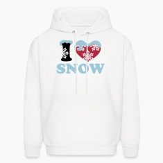 SNOW winter I LOVE snowflake ski heart snowboard Hoodies