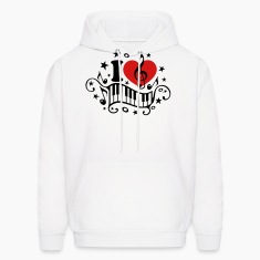 I love music heart note piano clef classic choir  Hoodies