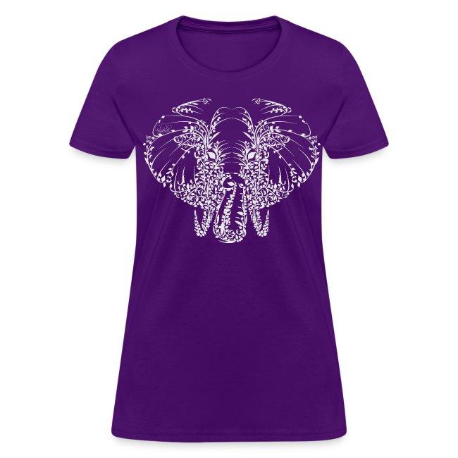 Elephant White Shirt Womans
