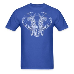 Elephant White Shirt Mens - Men's T-Shirt