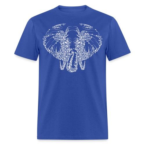 Elephant White Shirt Mens - Men's T-Shirt
