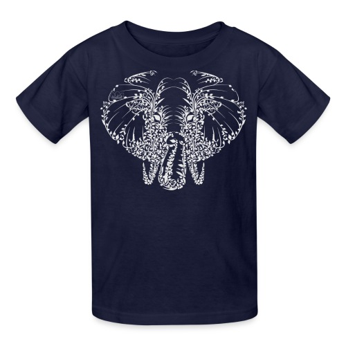 Elephant White Shirt Kids - Kids' T-Shirt