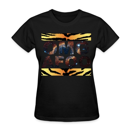 RUN OMG (Galaxy Tiger, Women's) - Women's T-Shirt
