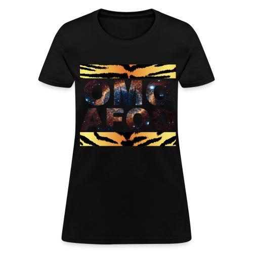 RUN OMG (Galaxy Tiger, Women's) - Women's T-Shirt