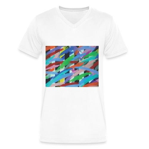 Tight Pants - V-Neck - Men - Men's V-Neck T-Shirt by Canvas
