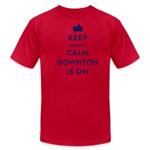 Keep Bloody Calm Downton Is On Shirt - Men's Fine Jersey T-Shirt