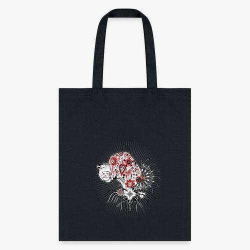 Sugar Skull style Great Dane Portrait - Tote Bag