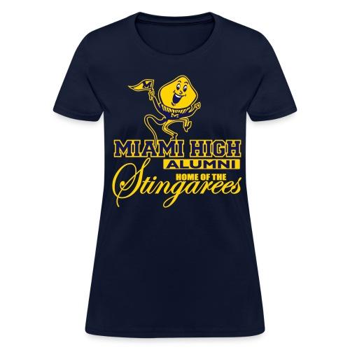 MHS Alumni with Whippy - Ladies Blue T-Shirt - Women's T-Shirt