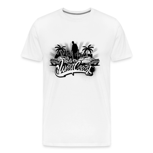West Coast Hip Hop T-Shirt - Men's Premium T-Shirt