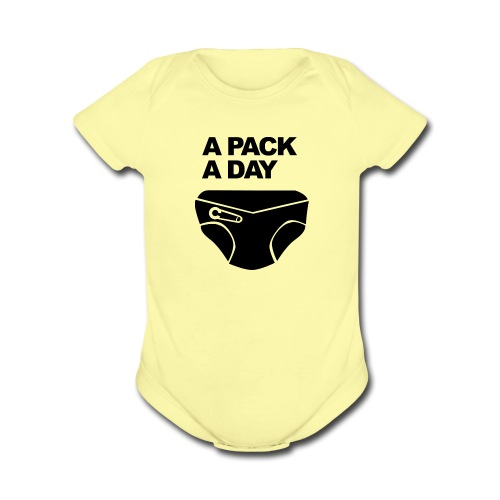 A pack a day - Organic Short Sleeve Baby Bodysuit