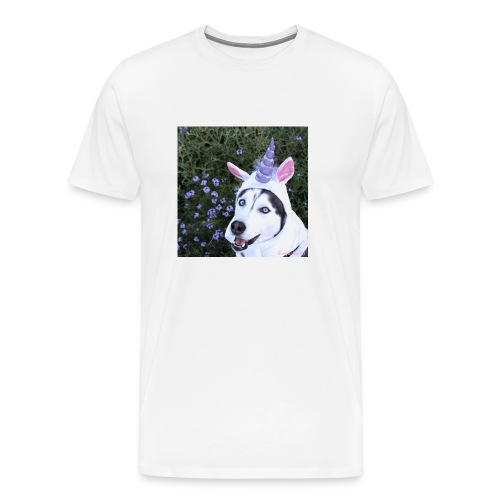 Men's UniHusky Tee - White - Men's Premium T-Shirt