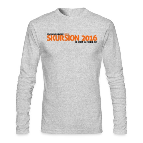 Snow Skursion Long-Design - White - Men's Long Sleeve T-Shirt by Next Level