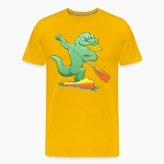 Water Monitor Competing in a Canoe Sprint Event T-Shirts