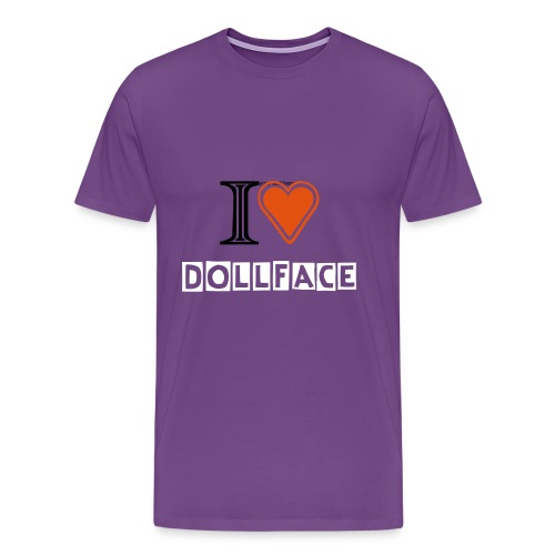 I Heart Dollface - Purple - Double Sided - Men's Premium T-Shirt