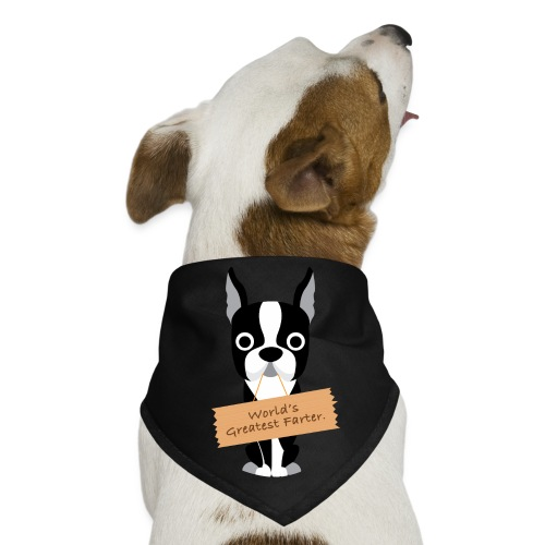Worlds Greatest Farter Boston Terrier Bandana - Dog Bandana