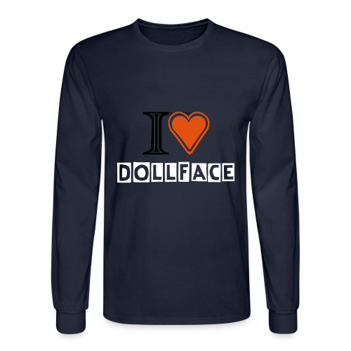 I Heart Dollface Sweatshirt - Double Sided - Men's Long Sleeve T-Shirt