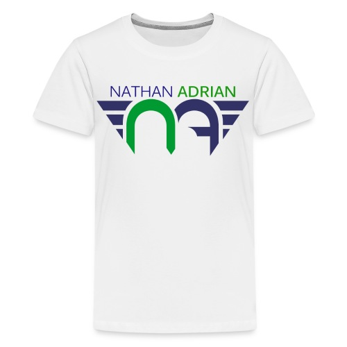 Logo on Front; #StayCoolWithUncleNathan on Back  - Kids' Premium T-Shirt