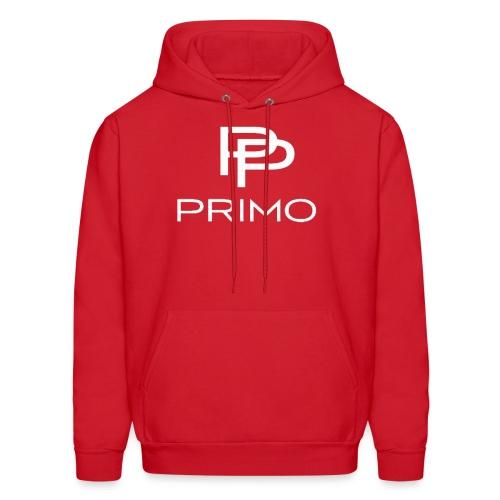 PRIMO Red/White Hoodie - Men's Hoodie