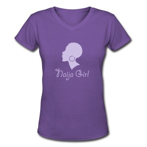 Naija Girl - Women's V-Neck T-Shirt