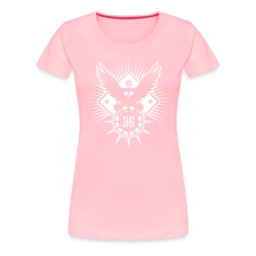 owl 36 crow raven birdie - Women's Premium T-Shirt