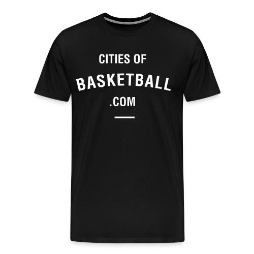 Cites of Basketball #Black - Men's Premium T-Shirt