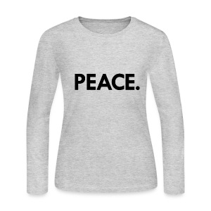 Peace long-sleeved t-shirt | grey - Women's Long Sleeve Jersey T-Shirt