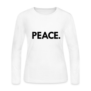 Peace long-sleeved t-shirt | white - Women's Long Sleeve Jersey T-Shirt