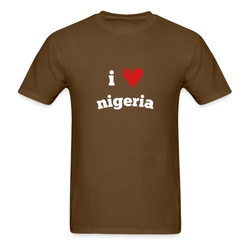 I Love Nigeria - Men's T-Shirt