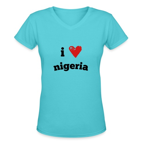 I Love Nigeria - Women's V-Neck T-Shirt