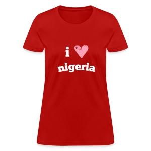 I Love Nigeria - Women's T-Shirt